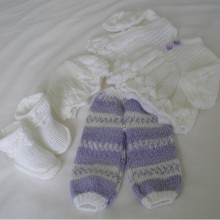 """20 - 22"""" Doll / 0-3 months Baby outfit #101A"""