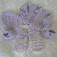 """20 - 22"""" Doll / 0-3 months Baby Outfit #97A"""